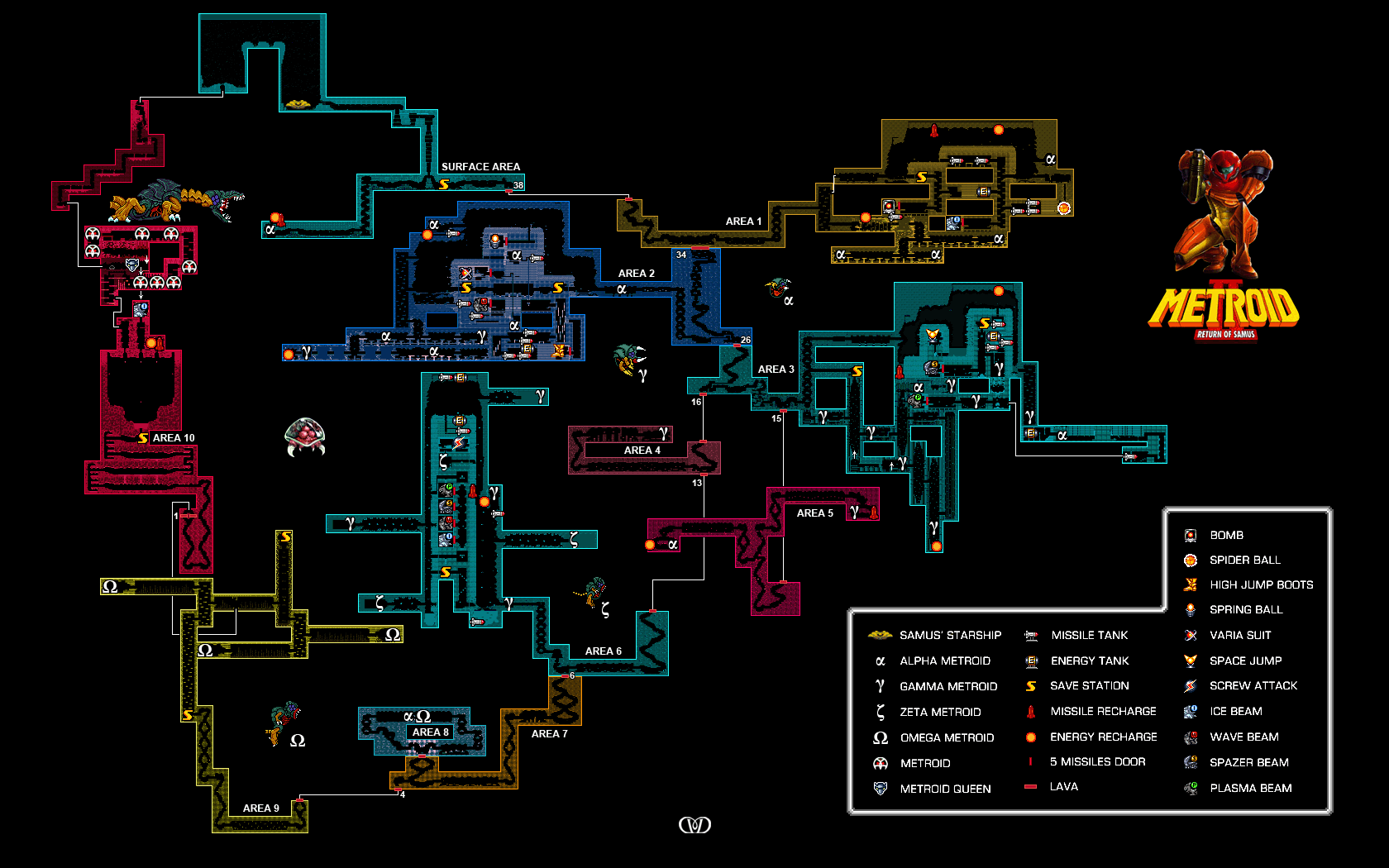 Metroid Database Maps   Metroid Database